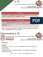 Matematica II - Integração