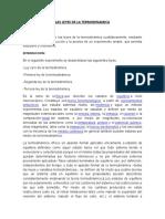 Las Leyes de La Termodinamica Informe