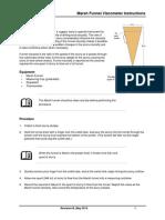 Marsh Funnel Instruction Manual