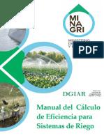 Manual determinacion Eficiencia de Riego MINAGRI.pdf