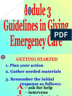 VII. Guidelines in Giving Emergency Care