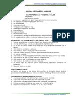 Manual de Primeros Auxilios y Botiquin
