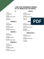 Cartelera Cine Normandi Semana Del Jueves 2 Al Miércoles 8 de Marzo