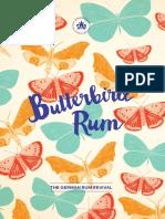 Butterbird Rum Information Broschure