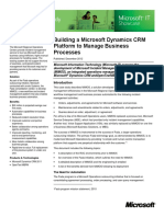 Building a Microsoft Dynamics Crm Platform to Manage Business Processes
