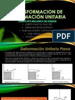 Transformacion de Deformación Unitaria