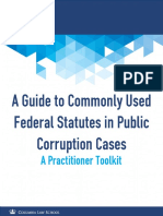 A Guide to Commonly Used Federal Statutes in Public Corruption Cases
