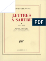 Lettres a Sartre simone de beauvoir (22p.)