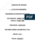 Informe Diseño Geometrico Vial