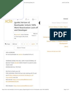 guide) Verizon s5 Bootloader Unlock 100% Wo… | Verizon