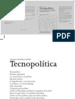 Tecnopolítica USO DE LAS NUEVAS HERRAMIENTAS TECNOLÓGICAS.pdf