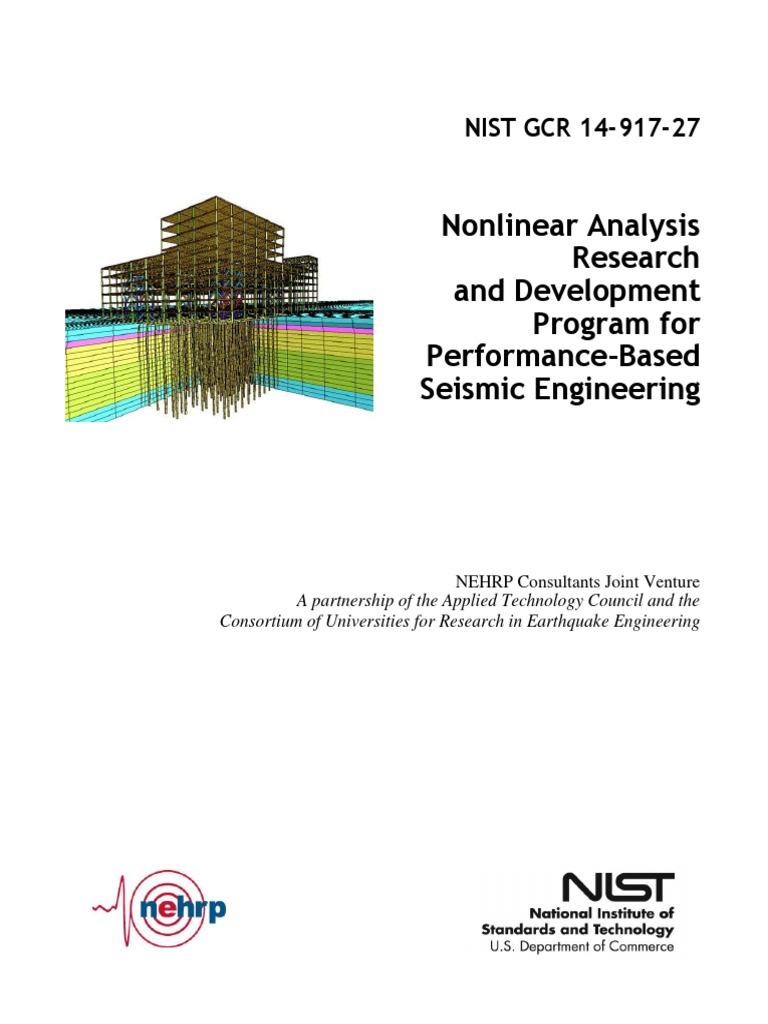 GCR 14-917-27_Analysis Research Program pdf | Earthquake Engineering