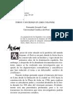 Toros y sociedad en Lima colonial - Fernando Iwasaki Cauti.pdf