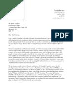 Noah Irvine's Letter To Prime Minister Justin Trudeau