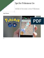 36 Hidden Tips for Pokemon Go Fanatics | PCMag.com