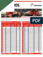 Horarios Trenes Retiro Villa Rosa Domingos y Feriados