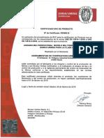 Certificado de Producto Andamio Combi Multi B V