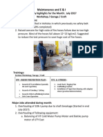 Monthly highlights July 2017 Workshop - Garage - Craft.docx