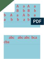 Aa B b C c