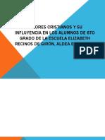 Valores Cristianos y Su Influyencia en Los Alumnos