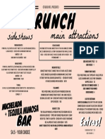 Stache Brunch Menu