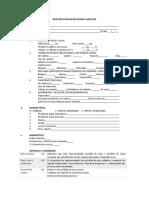 Registro Evaluación Global Subjetiva