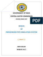Pressurized Irrigation System-DRAFT CWC -March 2017
