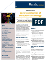 Commercialization of Disruptive Technology