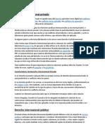 Derecho Internacional Privado y Publico