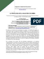 Alarcon 2005 La Psicologia de La Salud en Colombia