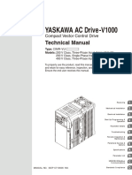 YASKAWA AC Drive-V1000 Compact Vector Control Drive Technical Manual