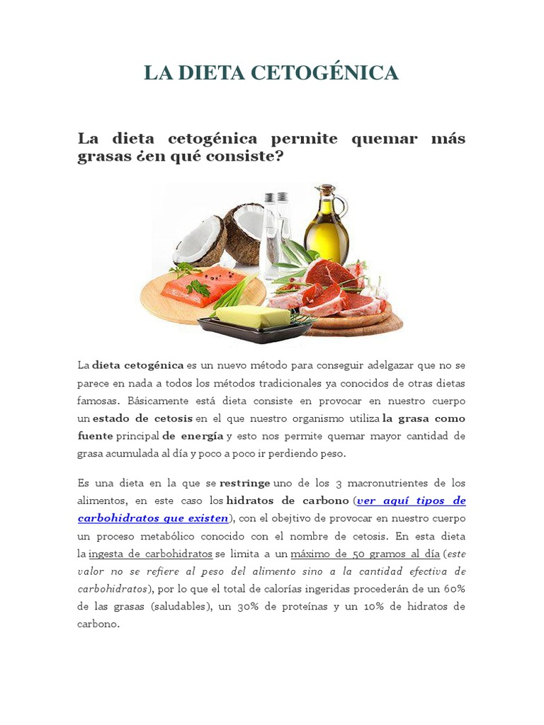 ¿En qué consiste una dieta cetosis?