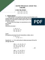 Penerapan Sistem Persamaan Linear Tiga Variabel