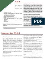Insurance Week 1 Digest