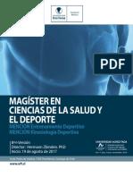 Brochure Magister Ciencias Salud y Deporte 2017