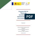 Proyecto ESCI III Planes Sensibilización 2010