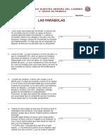 Cuestionario las parabolas