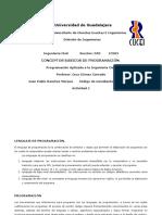 Act. 1 - Conceptos de Programación
