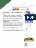 Understanding Load-sensing Control