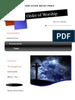Order of Worship 08 15 2010 v1