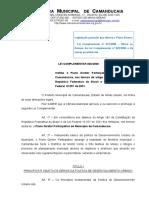 Lei Complementar 020-2006 - Plano Diretor
