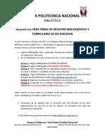 Requisitos Para Registrobibliografico