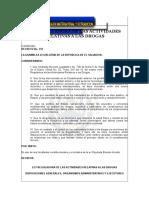 Ley Reguladora de Las Actividades Relativas a Las Drogas.