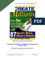I Create Millionse Book