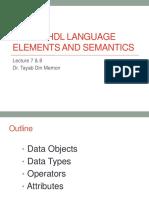Lecture 7 8 Vhdl Semantics and Elements