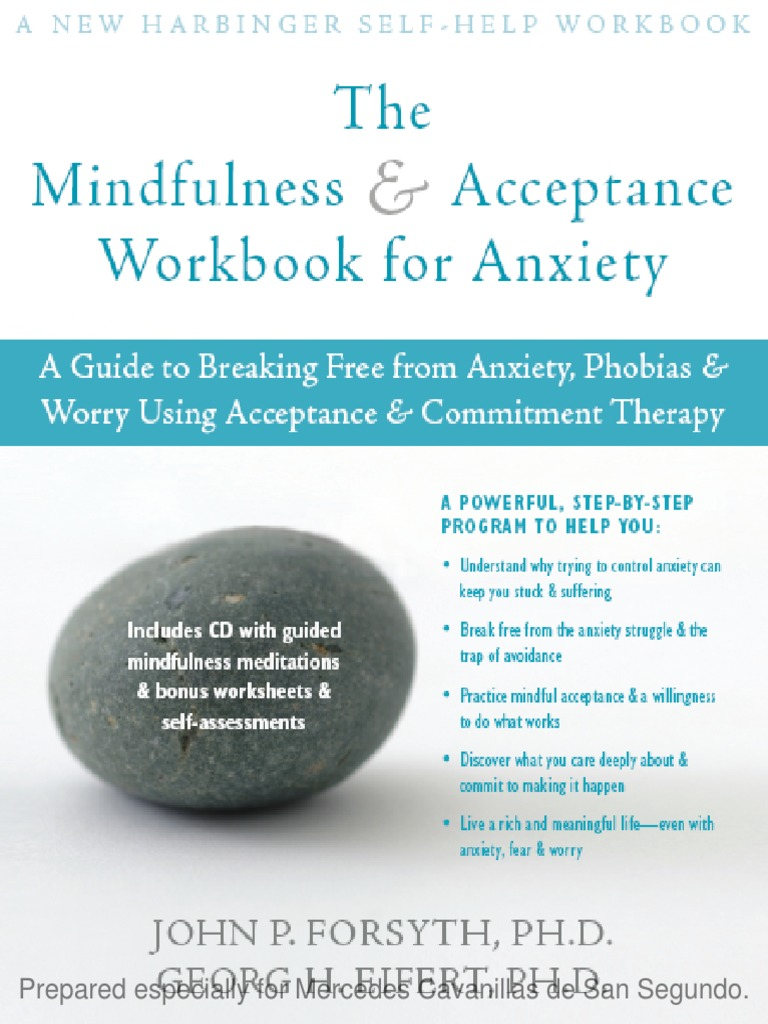 the Mindfulness Acceptance Workbook for Anxiety | Anxiety Disorder ...