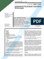 Abnt Nbr 12543 Tb 357 - Equipamentos de Protecao Respiratoria[1].PDF