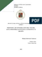 TESIS Propuesta de optimización del uso del agua industrial en la Planta Cachantun (IngCivQuim).pdf