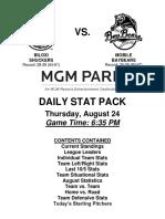 8.24.17 vs. MOB Stat Pack