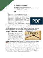 Parashah 48 Shoftim (Judges) 5777